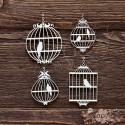Клетки с птицами (4 элемента, 9х11,8 см), CB161