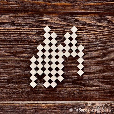 Фон квадраты №2 (7,2х6,3 см), CB690