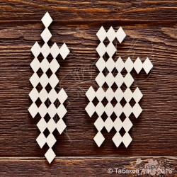 Фон квадраты №3 (1) 3,3х11,7 см 2) 5,8х11 см), CB691