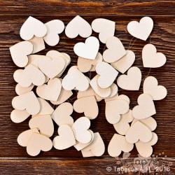 Набор сердец №4 (50 элем., 2х1,7 см), CB699