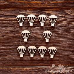 Набор парашюты 10 элементов (1,5х2см), CB713