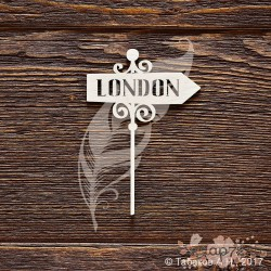 Указатель LONDON (5,4 х 8 см), CB822