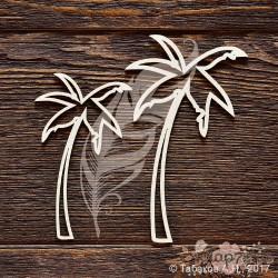 Набор пальмы 2 шт (5.7 х 10 см, 4.5 х 8 см). CB833