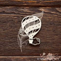 Чипборд. Воздушный шар с облачками (4,5 × 6 см), CB906