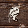 Чипборд. Мишутка с воздушным шариком (3,3 × 6,5 см), CB904