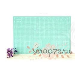 Коврик для резки, двусторонний, цвет мятный, А3 (45*30см)