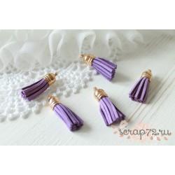 Подвеска-кисточки, цвет фиолетовый, 3.5*1см, 1шт.