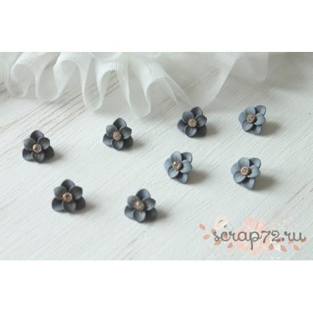Декоративный цветок, цвет серо-голубой матовый, 1шт