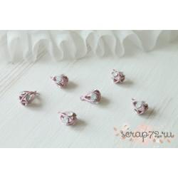 Декоративный кулон, цвет розовый матовый, 20*12мм, 1шт