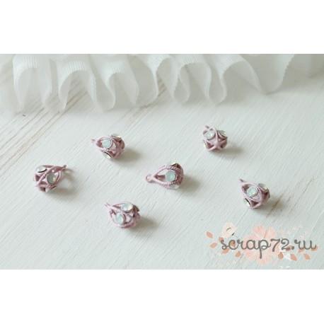 Декоративный цветок, цвет розовый матовый, 1шт