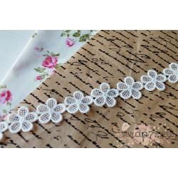 Кружево декоративное, хлопок, 2.5 см, цвет белый, 90см