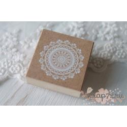 Резиновый штамп на деревянной основе Кружевная салфетка, 40мм, 1шт