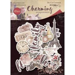 Набор высечек для скрапбукинга 45шт от Scrapmir Charming (Очарование)