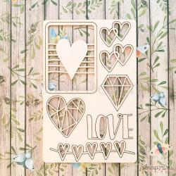 Набор чипборда Love is…, 10*15 см