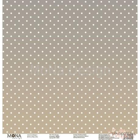 "Лист бумаги для скрапбукинга 30,5х30,5 см 190 гр/м односторон Лесной орех - ""Dots"""