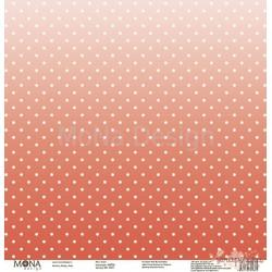 "Лист бумаги для скрапбукинга 30,5х30,5 см 190 гр/м односторон Закат - ""Dots"""