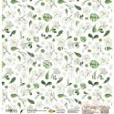 """Лист бумаги для скрапбукинга 30,5х30,5 см 190 гр/м односторон Цветы лимона """"Тропики"""""""