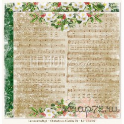 "Двухсторонняя бумага ""Christmas Carols 06"" 30,5*30,5, 200гр."