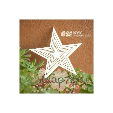 Чипборд рамка, основа в форме звезды