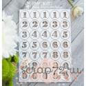Чипборд набор цифр Hi-157