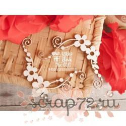Чипборд цветочные уголки с завитками Hw-024