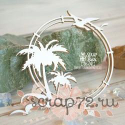 Чипборд рамка с пальмами Hr-114