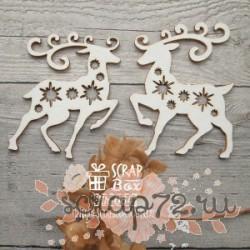 Чипборд олени со звездочками Hh-064
