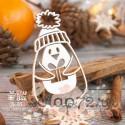 Чипборд пингвин с подарком Hc-076