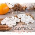 Чипборд набор для вышивки свитера с сердечком Hh-126