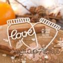 Чипборд шейкер баночки с надписью LOVE 2шт Hm-070