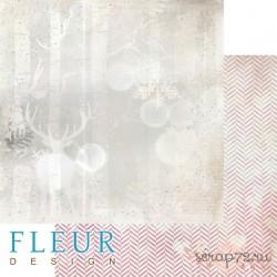 """Лист бумаги для скрапбукинга """"Лесной олень"""", коллекция """"Волшебный лес"""", 30,5х30,5 см, плотность 190 гр"""