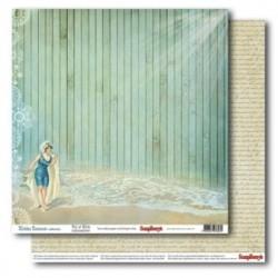 Бумага для скрапбукинга 30,5х30,5 см 180 гр/м двусторон Курортный Роман Маленькие Радости