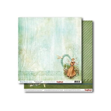 Бумага для скрапбукинга 30,5х30,5 см 180 гр/м двусторон Курортный Роман Пора давно минувших дней