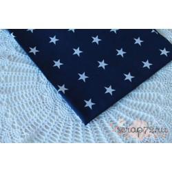 Хлопок Звезды на синем, 135 g/m2, 40*50см