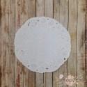 Салфетка ажурная Королевский круг, цвет белый, 10см, 1шт