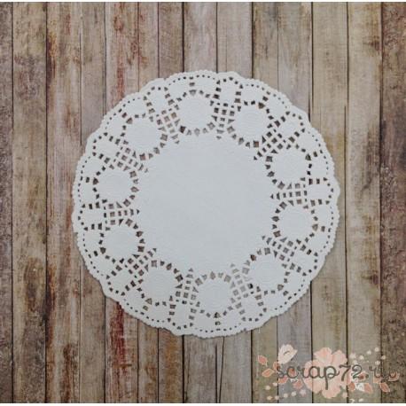 Салфетка ажурная Подсолнухи, цвет белый, по размерам, 1шт
