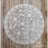 Салфетка ажурная с цветочками Пятилистник, цвет белый, 19см, 1шт