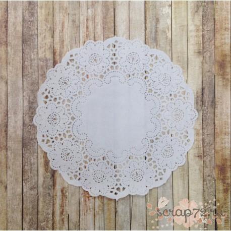 Салфетка ажурная, цвет белый, 16.5см, 1шт
