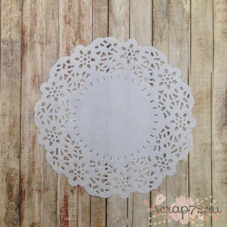Салфетка ажурная, цвет белый, 11см, 1шт.
