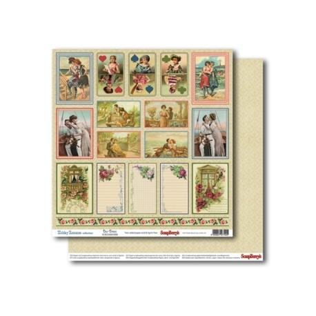 Бумага для скрапбукинга 30,5х30,5 см 180 гр/м двусторон Курортный Роман Грезы