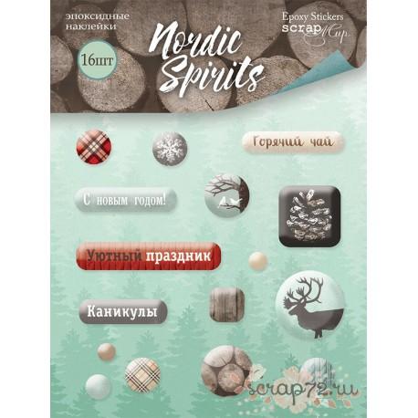 Набор эпоксидных наклеек 16шт от Scrapmir Nordic Spirits