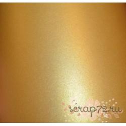 Кардсток жемчужный, цвет желтое золото, А4, 230 гр/м