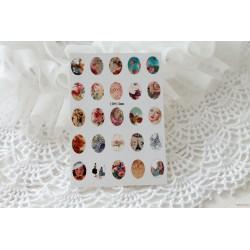 Карточка с картинками под кабошон Микс, 10*14мм