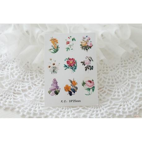 Карточка с картинками под кабошон Полевые цветы, 18*25мм
