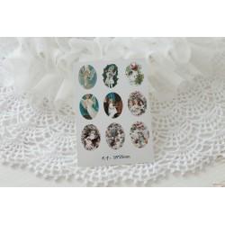 Карточка с картинками под кабошон Ангел, 18*25мм
