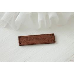 """Деревянный чипборд-шильдик """"Hand made11"""", 1 шт., 62х16 мм"""