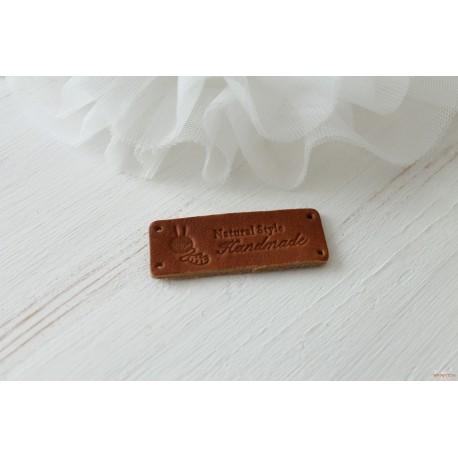 "Шильдик ""Handmade"", кожа, 1 шт., 54*19 мм"