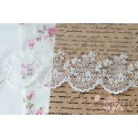 Кружево декоративное на сетке, 11 см, цвет белый, 90см