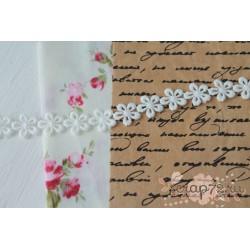 Кружево декоративное, 1.5 см, цвет белый, 90см