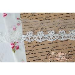 Кружево декоративное на сетке, 5.5 см, цвет белый, 90см